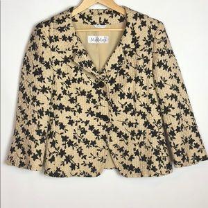 MaxMara Beige Black Floral Jacket